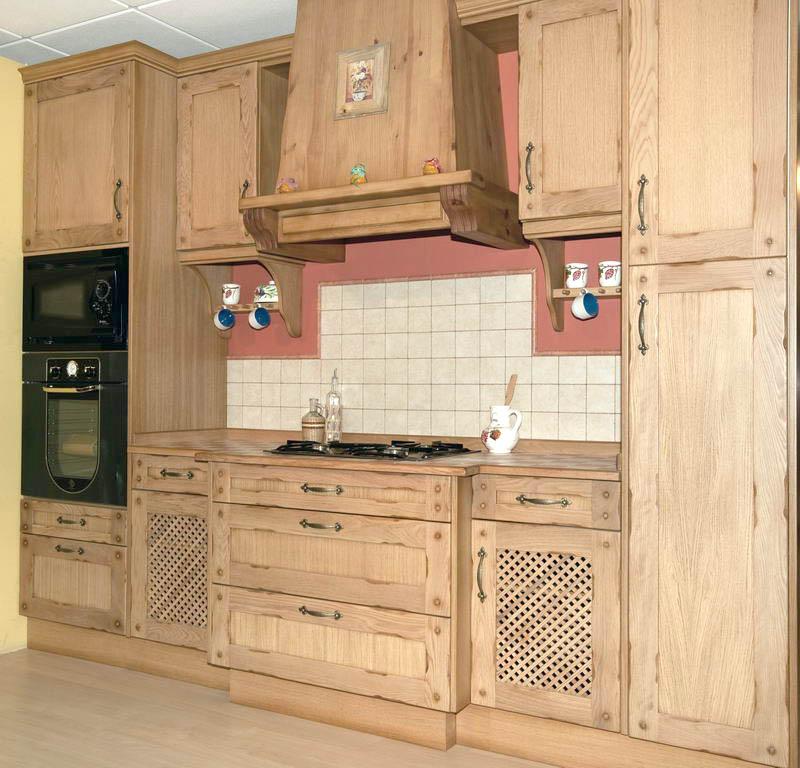 cocina de madera estilo asturias