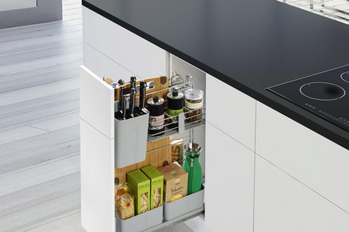 mueble cocina con cajon extraible